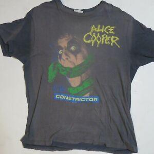 VINTAGE ALICE COOPER 1986 VINTAGE CONCERT SHIRT CONSTRICTOR TOUR