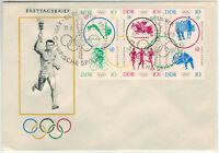 DDR 1964, Olymp. Sommerspiele Tokio MiNr. 1039/44 auf FDC mit ESSt. -X8007-