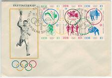 DDR 1964, Olimpo. giochi estivi Tokyo MiNr. 1039/44 su FDC con mangiate. - x8007 -