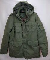 Eddie Bauer Mens EB550 Goose Down Insulated Parka Coat TXL XL Tall Green Hooded