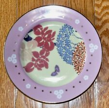 Anthropologie dessert Floral butterfly plate Pink