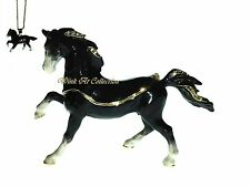 Black Stallion Horse Bejeweled Trinket Box