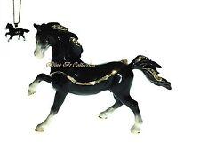 Black Stallion Horse Bejeweled Trinket Box