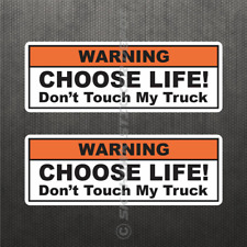 Funny Don't Touch My Truck Warning Bumper Sticker Vinyl Decal Mechanic Prank