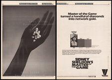 Sidney Sheldon's MASTER OF THE GAME__Original 1984 Trade AD /poster__CBS__Viacom