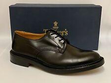 Tricker's Men's Woodstock Leather Derby Shoes In Black Calf Size 11 RRP £415
