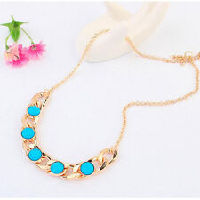 Good Fashion Women Jewelry Gold Choker Chunky Statement Sapphire Necklace Chain