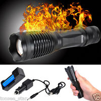 6000LM T6 LED Taschenlampe Zoomable Wasserdicht Torch Licht+Battery+USB Charger