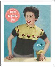 1950s Rosa Fair Isle Suéter Tejer patrón-copia