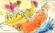 Marc Chagall-Original-Lithographie-La akkordionspieler-wv.: Mourlot 204