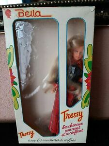 RARE TRESSY-BELLA-AMERICAN CHARACTER PALITOY+BOX, KEY AND ACCESSORIES