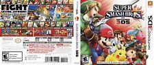 Super Smash Bros. Nintendo 3DS Reproduction Cover Art Work (No Game, No Box)