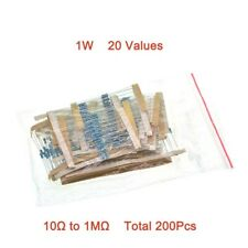 1W Metal Film Resistors Kit 10Ω to 1MΩ 20 Values Mixed Packaging 1% Total 200Pcs