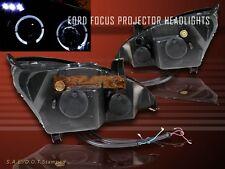 00 - 04 FORD FOCUS ZX3 ZX5 PROJECTOR HEADLIGHTS BLACK 00 01 02 03 04