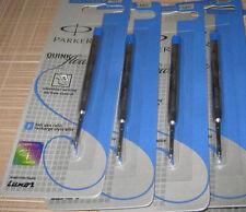 4 x Parker Quink Jotter Classic Ball Point Pen Refills, Blue Ink, 0.8mm Fine Tip