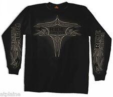 T-Shirt ML PINSTRIPE EAGLE - Taille M - Style BIKER HARLEY