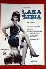 LA PUPA DOLL ITALIAN SEXY MICHELLE MERCIER 1963 RARE EXYU MOVIE POSTER