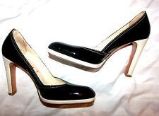 ***MIU MIU** PRADA Black Patent Leather Dress Shoe 38 Eur / 7.5M Made in Italy