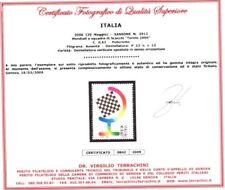 Italia Repubblica Varietà Scacchi Torino 2006 Certific.