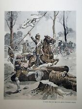 """c71-59 Gravure contes & récits d'Alsace - """"le Général Drouot de la marche"""""""