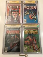 Wolverine Limited Series #1 2 3 4 Lot All CGC 9.8 Signed 4-9x's & Sketch! X-Men!