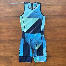 ZOOT Mens Medium LTD TriSuit Sleeveless Blue Cali19 Triathlon Skinsuit Racesuit