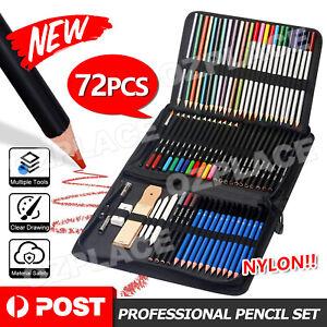 Art Sketch Pencils Oil Drawing Colouring Graphite Charcoal Pencil 72pcs Set