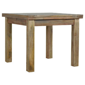 Extendable Dining Table Solid Wood Hand Crafted To Seat Up To 6 People