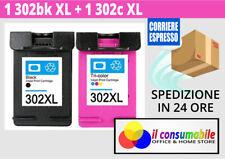 2 Cartucce comp. per HP 302XL Nero e Colore OfficeJet 3800 Series OfficeJet 3830