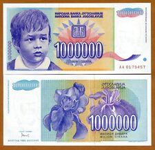 Yugoslavia, 1,000,000 (1000000) Dinara, 1993, P-120, AA-Prefix, UNC > Boy