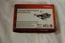 StarTech 2 Port Dual Profile PCI-Express RS-232 Serial Card - New