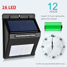 16 Led Wireless Powered motion sensor security  Waterproof Solar Wall Light [03]