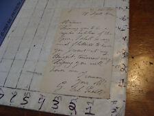 Vintage Letter/NOTE: 1885 from 21 FIFTH av NY NY - G DEL PUENTE