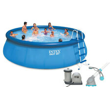 """Intex 18' x 48"""" Easy Set Above Ground Pool with Pump & Krill Automatic Vacuum"""