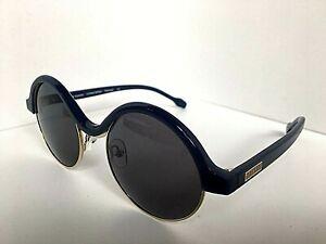 New Polarized Gianfranco  Ferre GFF 1098 005 Round Blue 48mm Sunglasses
