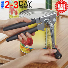 Hand Crank Can Opener Large Commercial Steel Manual Heavy Duty Restaurant Black
