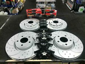 FOR AUDI A4 A5 3.0 TDI QUATTRO Q5 2.0 TDI FRONT REAR DRILLED GROOVED DISCS PADS