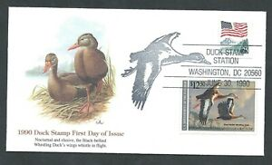 1990 RW57 Balke Black Bellied Whistling DUCK FLEETWOOD FDC First Day