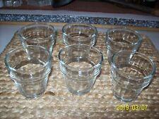 Set Of 6 Clear Glass Flower Pot~ *Crisa*~ Votive Candle Holders