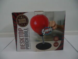 Global Gizmos DESKTOP PUNCH BALL Boxing Inflatable Home Office Stress Relief