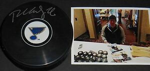 Paul Stastny St Louis Blues Autographed Signed Hockey Puck