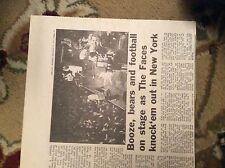 U1-7 ephemera 1971 original article the faces hit new york