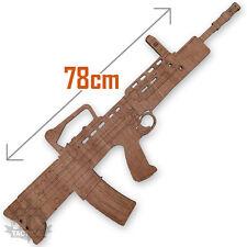 BRITISH ARMY SA80 RIFLE FULL SIZE WOODEN TRAINING DRILL GUN LASER DETAIL L85A2