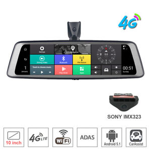 """New 10"""" Full Touch screen rear view mirror Car DVR Camera Android 4G Dash Camera"""