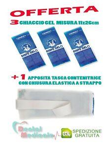 GHIACCIO GEL CALDO/FREDDO OFFERTA PER 3 BUSTE RIUTILIZZABILI 11x26cm + 1 TASCA