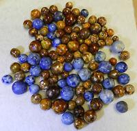 #10640m Vintage Group or Bulk Lot of 100 German Clay Bennington Marbles .40 .79