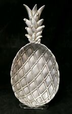 Bruce Cox Signed Large Vtg Pewter Aluminum Pineapple Serving Dish Platter