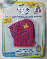 x Star fly pants hippy fits most WEBKINZ cat dog pet CLOTHING new with code