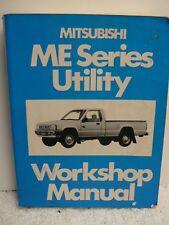 MITSUBISHI ME Series Utility Workshop Manual 1986 By Mitsubishi Motors Corp