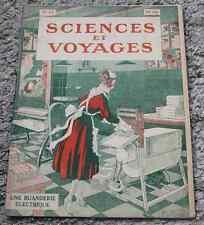 Ancienne revue SCIENCES ET VOYAGES N°71 6 janvier 1921 la buanderie électrique
